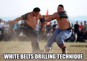 bjj drilling technique
